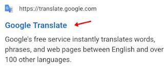 google transalte url address