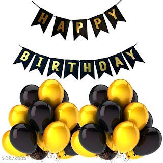 Happy Birthday Banner & Balloons