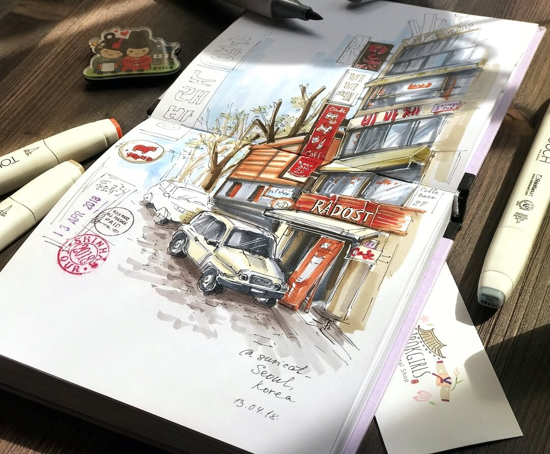 12-Korea-Sketch-Ekaterina-Surikat-Interior-Design-Architecture-and-Travel-Journals-Drawings-www-designstack-co