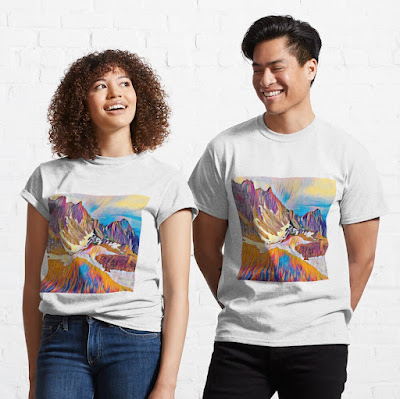 Snow Mountain Art canvas print gift for nature lover Classic T-Shirt