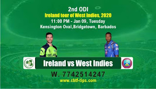 Who will win Today ODI, 2nd ODI Match WI vs IRE - Cricfrog