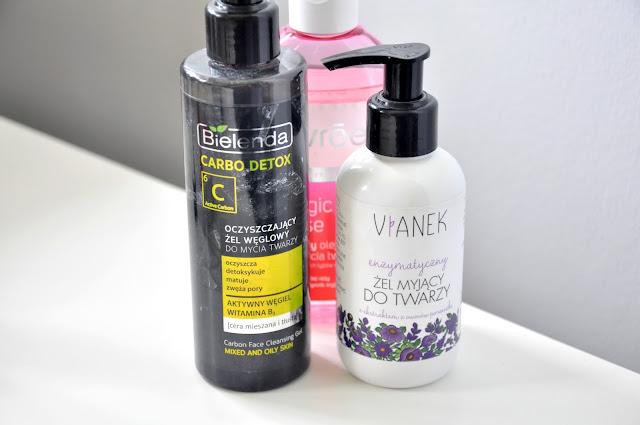węglowy żel do mycia twarzy bielenda carbo detox, enzymatyczny żel do mycia twarzy vianek