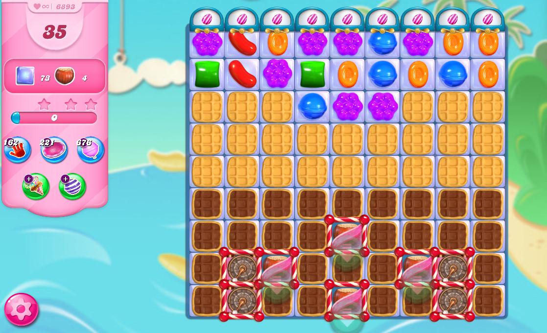 Candy Crush Saga level 6893
