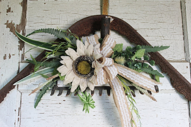 garden rake wreath alternative