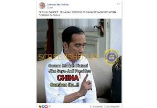 Apa Benar Virus Corona Mudah Diatasi Jika Jokowi Jadi Presiden China?