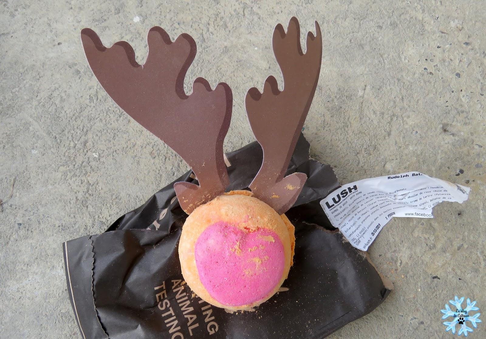 Bombe de bain Rudolph de Lush