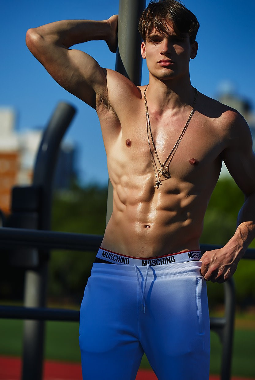 sexy-moschino-male-model-shiny-abs-shirtless-fit-body-cute-face