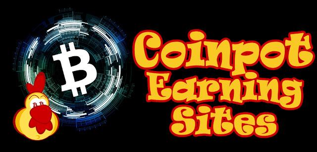 Earningsites from the miniwallet Coinpot: bitcoin, dogecoin, litecoin, dash, bitcoincash