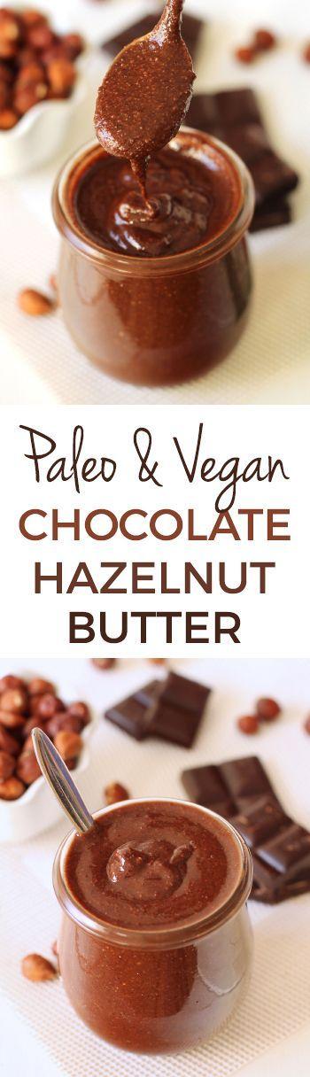 Paleo Chocolate Hazelnut Butter Spread (vegan, gluten-free, dairy-free)