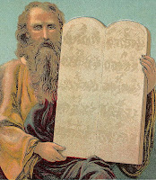 Tablets of the Ten Commandments (Bible Card)