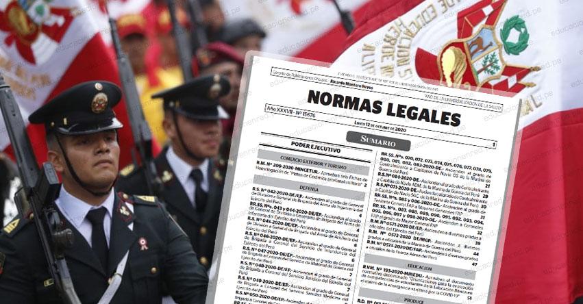 MINISTERIO DE DEFENSA: Relación de Ascensos de Grado en las Fuerzas Armadas FF.AA. - El Peruano