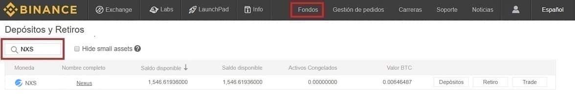Comprar Criptomoneda Nexus (NXS) en Binance y Coinbase con Euros y Dolares Guía Completa