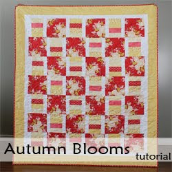 Autumn Blooms - a free quilt pattern from A Bright Corner