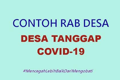 Contoh RAB Desa Tanggap Covid-19