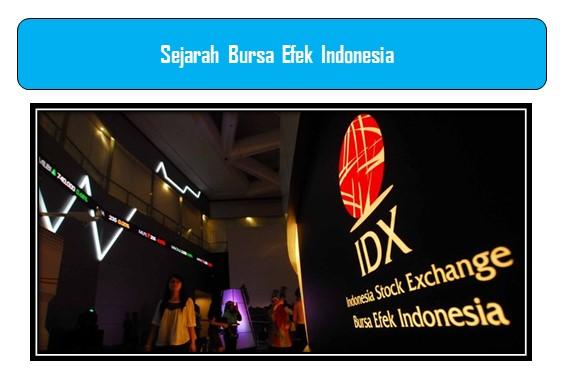 Sejarah Bursa Efek Indonesia