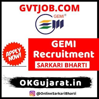 GEMI Clerk Cum Typist Recruitment 2020