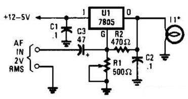 Simple Light Audio Transmitter Circuit Schematic Diagram