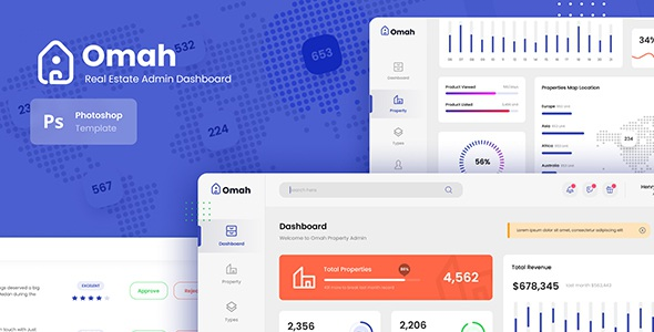 Best Real Estate Admin Dashboard UI Template