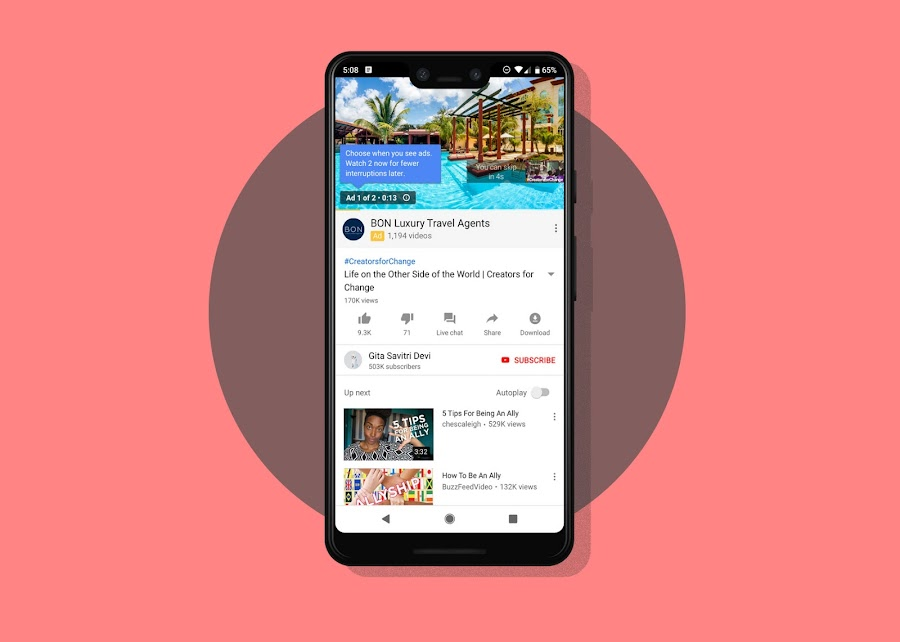 YouTube Will Let Users Watch More Ads to Start in Order to Avoid Disrupted Viewing, How evolving user patterns drive new ad experiences on YouTube
