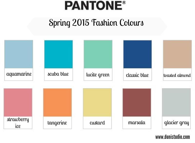 duni 39 s studio pantone spring fashion colours 2015. Black Bedroom Furniture Sets. Home Design Ideas