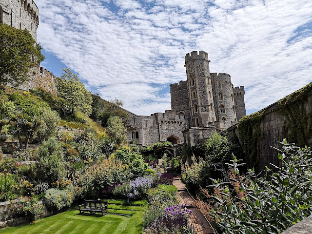 Windsor Castle garden view