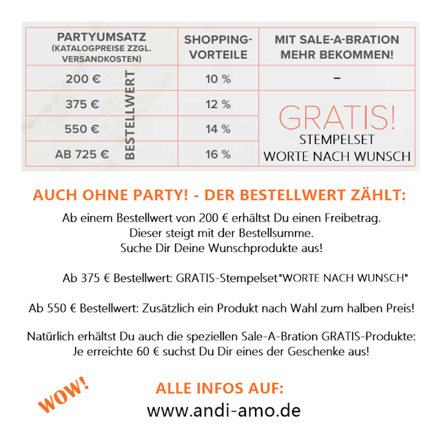 Stampin Up Shopping-Vorteile und Gratis-Produkte