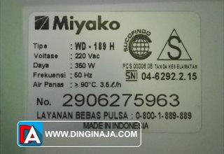 name plate mesin listrik