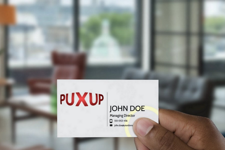 Puxup Mock Brand Card