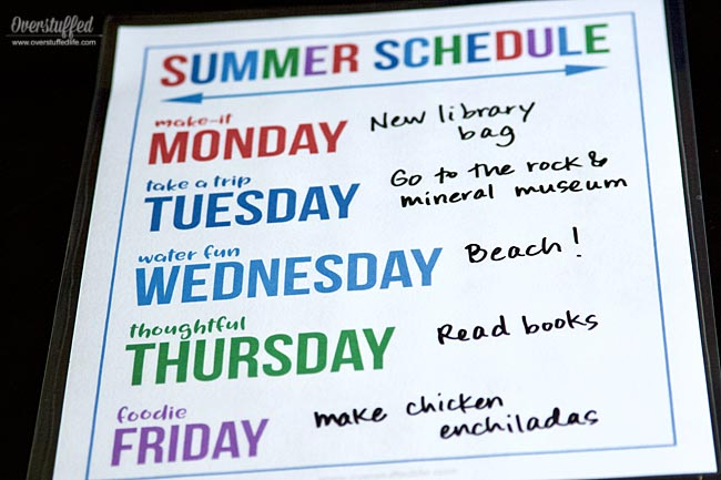 Laminate this summer theme days printable and plan fun activities for each day of summer vacation. Your kids will look forward to a fun activity each day and you will stay more organized. Make it the best summer ever with simple designated theme days!