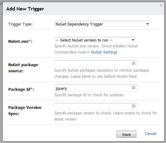 NuGet Dependency Trigger Update – Eugene Petrenko