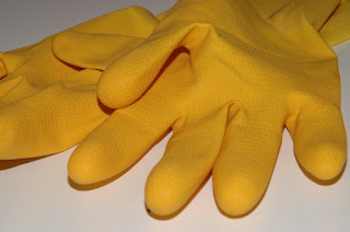 Photo of rubber cleaning gloves by recyclthis
