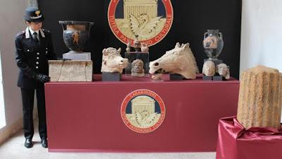 H ιταλική αστυνομία κατάσχεσε αρχαιότητες αξίας 1 εκατ. ευρώ