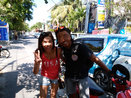 We ran into successful man in Sanur