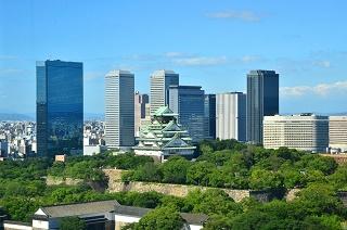 大阪城と大阪ビジネスパーク写真