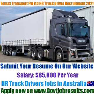 Tomax Transport Pvt Ltd HR Truck Driver Recruitment 2021-22