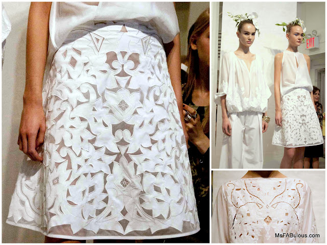 josie natori embroidered skirt