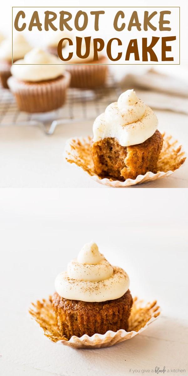 CARROT CAKE CUPCAKE RECIPE #cupcakerecipes