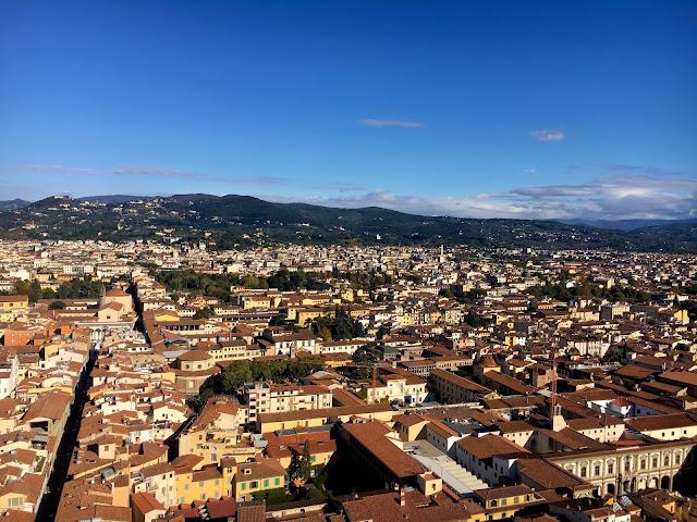 Vue du Duomo sur la ville, visiter Florence en 1 jour, Italie