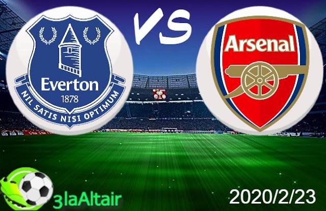 موعد مباراة آرسنال وإيفرتون بث مباشر بتاريخ 23-02-2020 الدوري الانجليزي