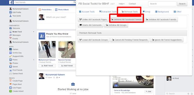 Unfriend All Facebook Friends click it