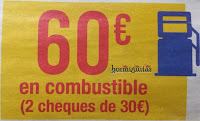 Cheque combustible 60€ Carrefour