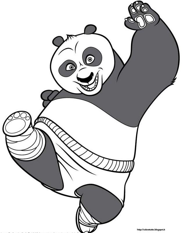 Kung Fu Panda Disegno Da Colorare N 1