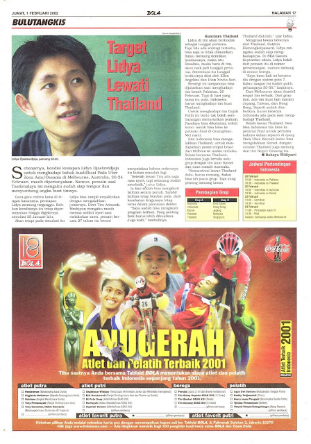 TARGET LIDYA LEWATI THAILAND