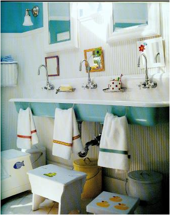 A Bathroom That Can Grow With Your Child Is One Of The Best Way To Lead Design And This Idea For Young Boys Demonstrates Just