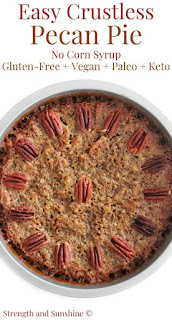 29 Keto-Friendly Desserts - Crustless Pecan Pie without Corn Syrup