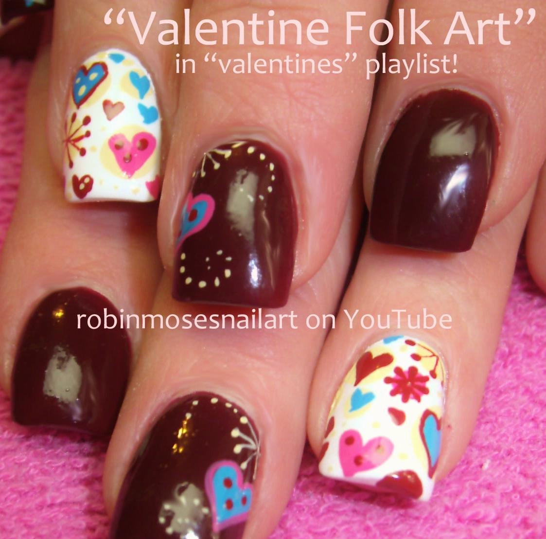 """Cute Valentine Nail Art: Robin Moses Nail Art: """"valentine Nails"""" """"nail Art"""" """"short"""
