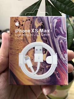 CÁP SẠC IPHONE XSMAX  ĐÓNG HỘP CAO CẤP GIÁ TẠI GỐC