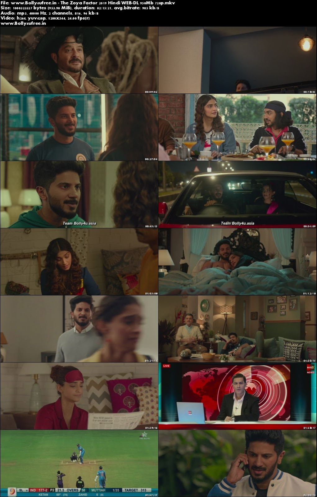 The Zoya Factor 2019 Hindi WEB-DL 400Mb 480p
