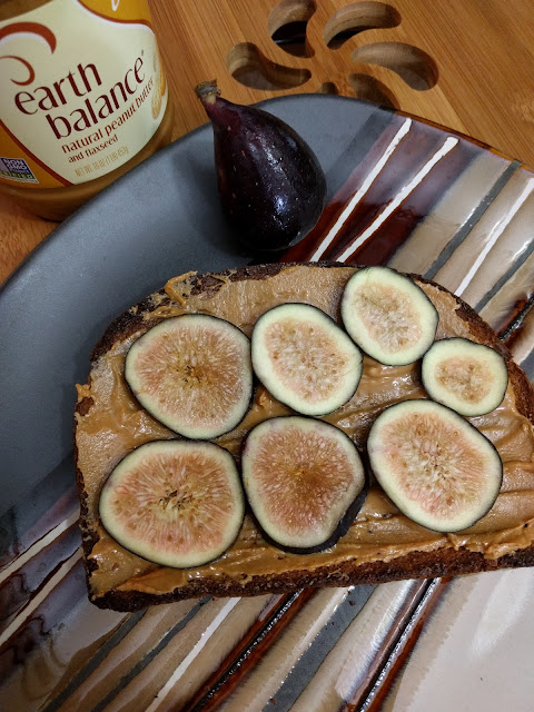 Fig & Peanut Butter Toast - perfect for post-run