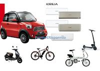 Logo Concorso '' Kireia ti premia'' : vinci Minicar elettrica Today Sunshine e altri veicoli elettrici